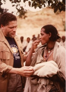 008806 -008855 MICKEY LELAND WITH UNKNOWN OTHERS ON AFRICAN-ETHIOPIA TRIPS;1987