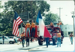 The construction float at the 1984 Pride Parade