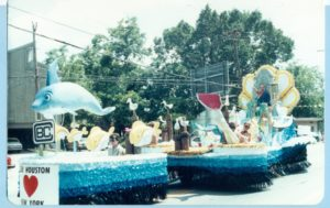 The Ocean themed float at the 1984 Pride Parade