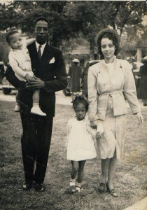Dr. Robert Hayes Sr. wife Dorothy and children.