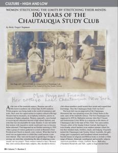 Chautauqua Article