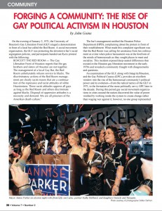 Forging a Community Gay Political Activism