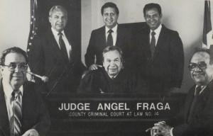 Judge Angel Fragas with his family.