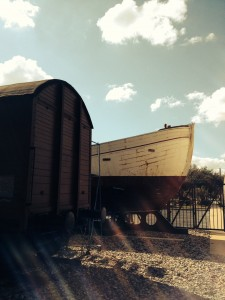 The Danish fishing boat at the Holocaust Museum Houston