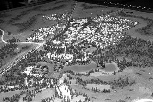 1973 scale model of The Woodlands courtesy of the Houston Metropolitan Research Center, RGD0006-1973-0334N08.