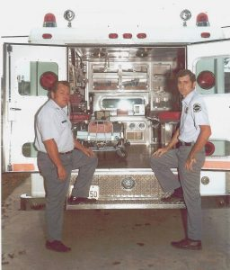 George Prazak and Mike Owin, circa 1973-74. Photo courtesy of Houston Fire Department.