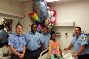 Antonesha Roberson was on vacation in Houston and became a near drowning victim. Last time these HFD members saw her, she had been pulled from the bottom of a pool with bystander CPR by a flight attendant. This child was unresponsive and not breathing. A week later, she was being discharged home and returning to Louisiana. 2015