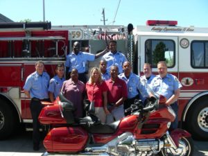 Wayne Revis, back on the motorcycle just weeks after his cardiac arrest, thanks to 9-1-1 calltaker who gave bystander CPR instructions to his wife and the HFD team that resuscitated him! 2007