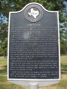 Camp Logan Memorial Marker