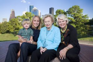 Four generations of the Tinsley family in 2008. Left to right, Lucy Elliot Emily Ownby Elliot, Eleanor Tinsley, and Kathleen Ownby. Photo courtesy of Tom Collins Photography.