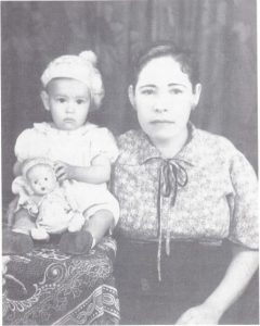 Guadalupe Quntanilla with her grandmother.