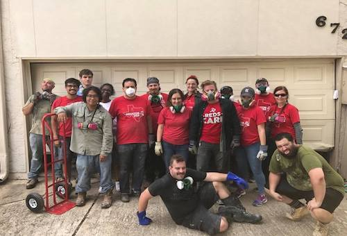 Houston's Democratic Socialists of America chapter came together to help Houstonians after Hurricane Harvey. The volunteers helped out in people's homes and raised money, which they used for cash cards to help those in need. All photos courtesy of the Houston Democratic Socialists of America Facebook Group unless otherwise noted.