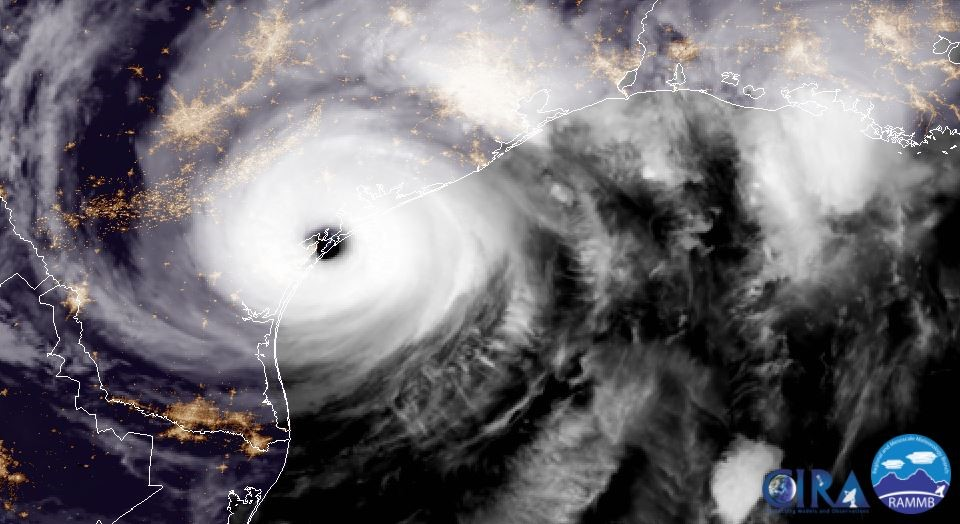 The mammoth Hurricane Harvey made landfall on the Texas coast around 10:00 p.m. on Friday, August 25, 2017.